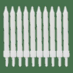 Bougie Anniversaire blanc 6 cm x10