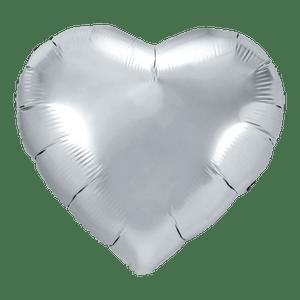 Ballon Coeur Argent 61 cm
