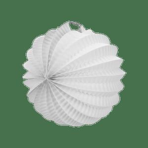 Lampion rond 20 cm Blanc