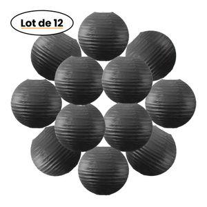 Lot de 12 Boules Japonaises Noires 30 cm