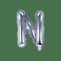 Ballon Lettre N Argent 35 cm