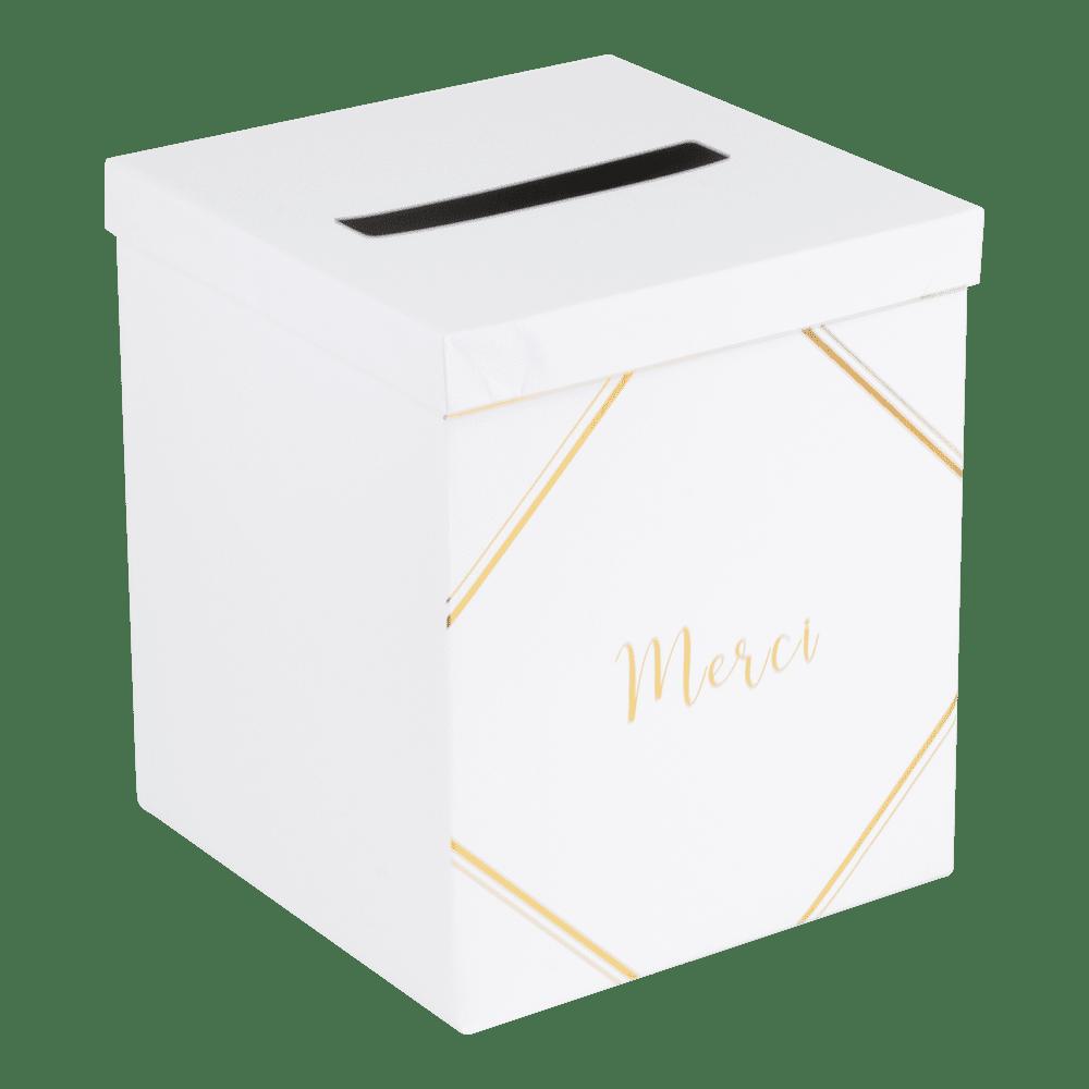 Urne Liserai Blanc et Or 25 cm