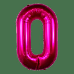 Ballon Chiffre 0 Fuchsia 90 cm