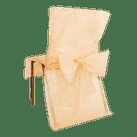 Housse de Chaise avec nœud Ivoire x10