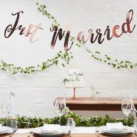 Guirlande Just Married Rose Champagne 1,5m