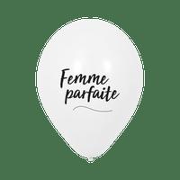"""Ballon Mariage """"Femme Parfaite"""" Blanc"""