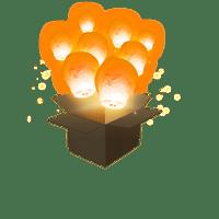 Balloon Orange x3