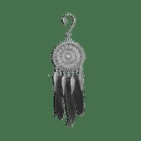 Attrape Rêve Pendantif Métal Noir Miniature
