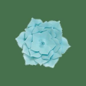 Fleur En Papier Gardénia Turquoise 20 cm