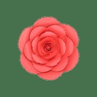 Fleur En Papier Rose Ancienne Rouge 20 cm