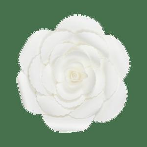 Fleur En Papier Rose Ancienne Blanc 30 cm