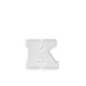 Lettre K en Polystyrène 10cm
