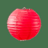 Boule papier 20cm Rouge