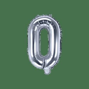 Ballon Lettre O Argent 35 cm