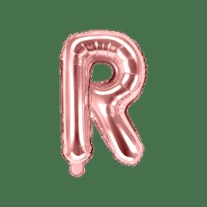 Ballon Lettre R Rose Champagne 35cm