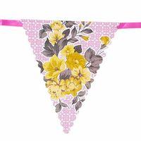 Guirlande Fanion Fleurs multicouleur 4 m