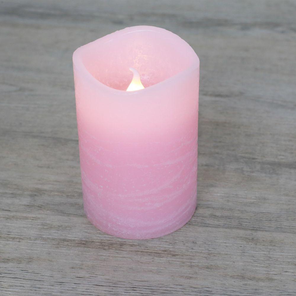 Bougie LED Rustique Rose