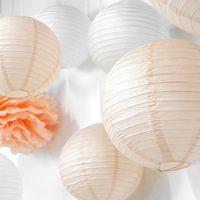 Boule papier 50cm Pêche