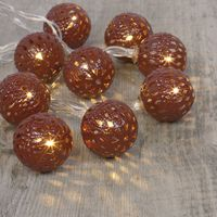 Guirlande Lumineuse Boules Marocaines Bronze