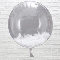 Ballon Plumes Blanches 45 cm x3