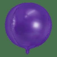 Ballon Rond Aluminium violet 40cm