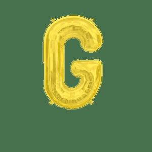 Ballon Lettre G Or 35 cm