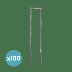 Pack de 100 Agrafes Toile de Paillage