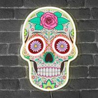 Lampe Neon Calavera - Dia de Los Muertos