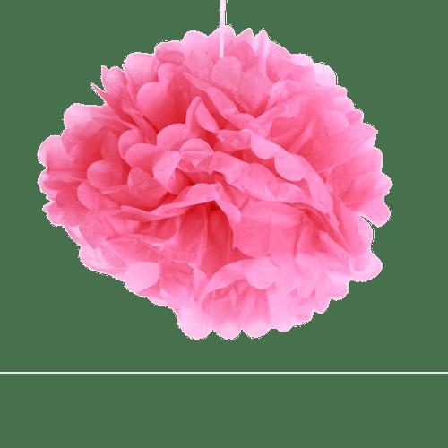 Déco Pour Mariage, Fête, Anniversaire Pompons Fuchsia 40Cm (Lot De 6 Pièces)