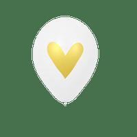 Ballon Mariage Cœur doré Blanc