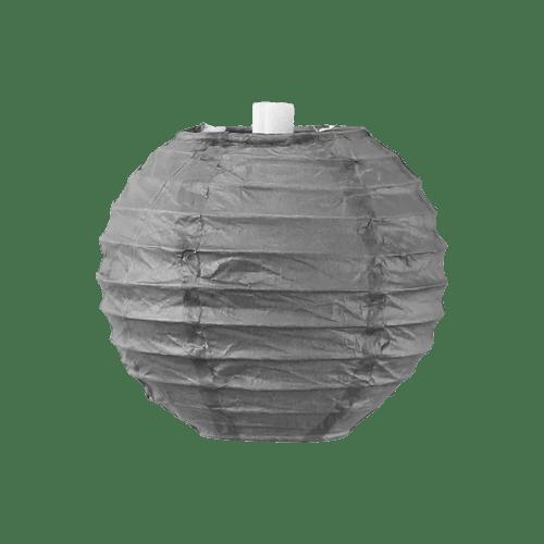 Boule papier 10cm Gris