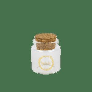 Mini Bouteille Verre Amour Or 14 cm