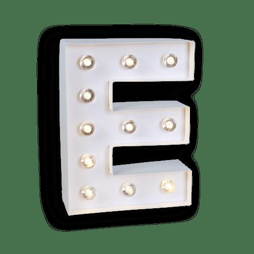 Lettre Lumineuse E