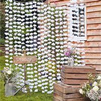 Rideau Fleurs Blanches 2M
