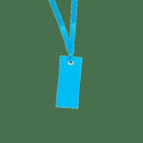 Marque-place + Ruban Bleu Turquoise x12