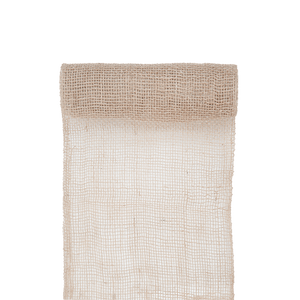 Chemin de Table Toile de Jute Blanc 5 M