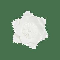 Fleur En Papier Clématite Blanc 20 cm
