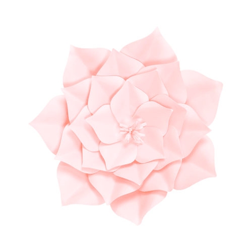 Fleur En Papier Gardénia Rose Pâle 30 cm