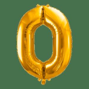 Ballon Chiffre 0 Or 90 cm