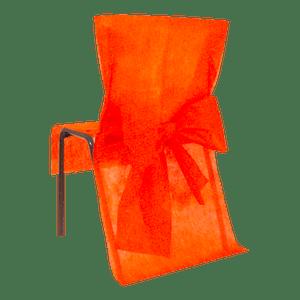 Housse de Chaise avec nœud Orange x10