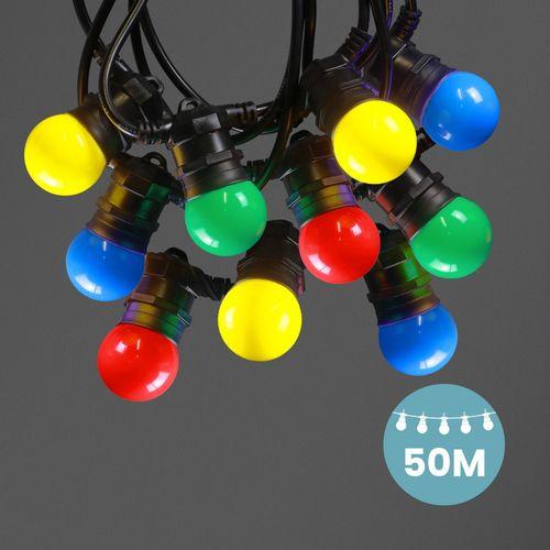 Kit Guirlande Guinguette 50m IP 65 Multicolore