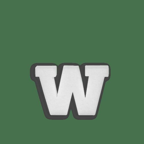 Lettre W en Polystyrène 10cm