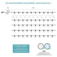 Kit Guirlande Guinguette 50m Transparent