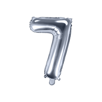 Ballon Chiffre 7 Latex Argent