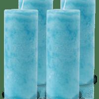 Pack de 4 Bougies Marbrées Turquoise 18x7cm