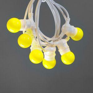 Guirlande Lumineuse Guinguette Jaune 10 m Cable Blanc