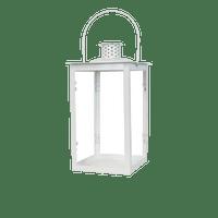 Lanterne en Métal Blanc 30cm