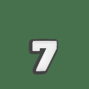 Chiffre 7 en Polystyrène 10cm