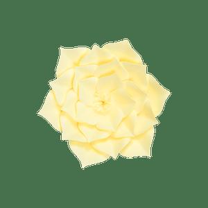 Fleur En Papier Gardénia Jaune Pâle 20 cm
