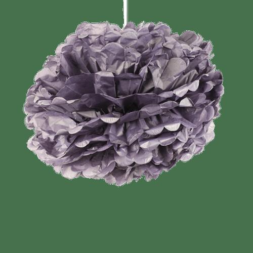 Pompons Aubergine 50cm x2